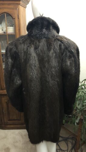 Fur goes Nutria length Mid Jose Benet Maroon Gomez Coat wSqxC8Y