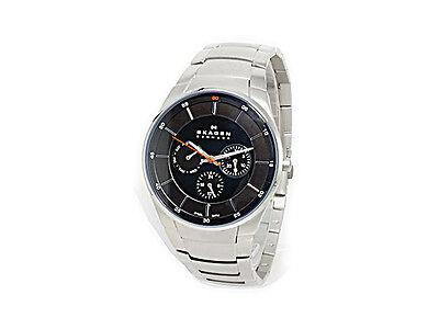 Skagen Men's Aabye SKW6054 Silver Stainless-Steel Quartz Watch in original box