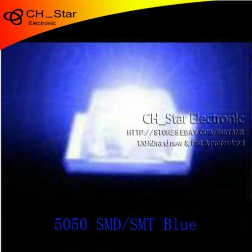 6 Blue Light SMD SMT 3-CHIPS Ultra Bright DEL 1000pcs 5050 2220 PLCC
