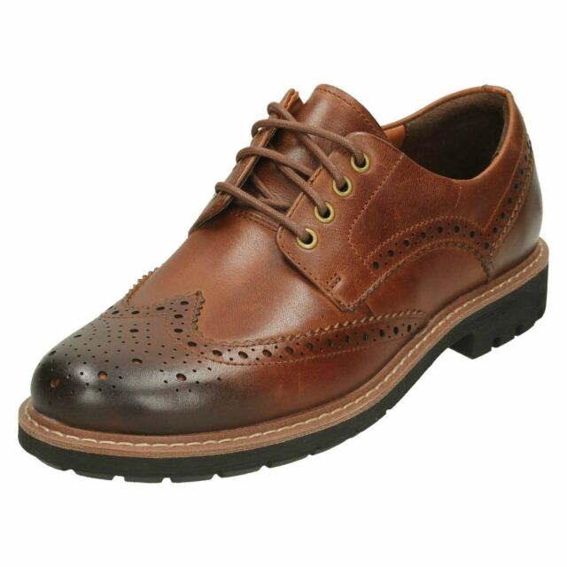 74eb816e Mens Clarks Batcombe Wing Leather Casual Lace Up Brogue Shoes