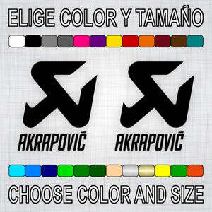 PEGATINAS-AKRAPOVIC-X2-vinilo-sticker-autocollant-aufkleber-adesivi-moto-decal