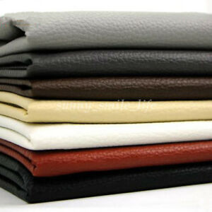 Details About Lychee Faux Leather Cloth Fabric 100x140cm For Bag Sofa Car Interior Upholstery
