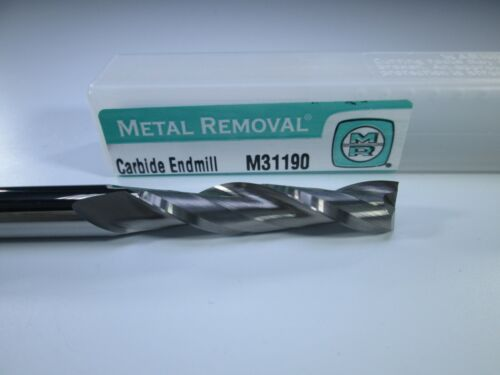 """METAL REMOVAL SOLID CARBIDE END MILL 5//16/"""" X 6/"""" EXTRA LONG REACH MILLING TOOL"""