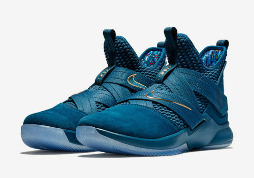 Nike Lebron Soldier XII SFG Agimat Mens AO4054-400 Blue Aegean Shoes Size 10