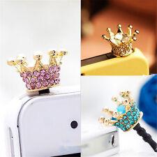 Crown 3.5mm Anti Dust Earphone Plug Cover Stopper Cap For Phone color random BDA