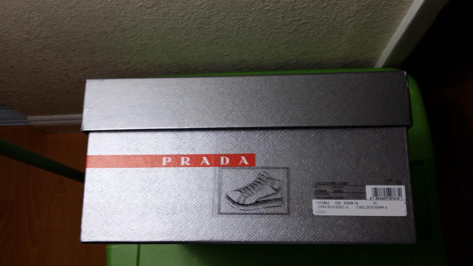 Prada Calzature Suede & Leather Mid-Top sautope da ginnastica