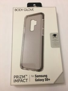 best cheap 0a0f3 b4049 Details about SAMSUNG GALAXY S9 Plus BODY GLOVE PRIZM IMPACT CASE,  NTELLISHOCK GEL,Smoke/Black
