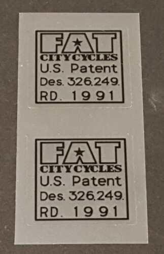 PATENT decals Fat Chance U.S 1 Paire-Noir ou Blanc référence SKU Fatc 907