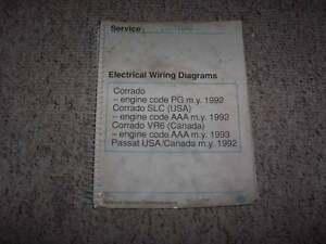 Details about 1992 VW Volkswagen Corrado SLC VR6 Electrical Wiring on vanagon wiring diagram, type 3 wiring diagram, jetta wiring diagram, new beetle wiring diagram, super beetle wiring diagram, passat wiring diagram, karmann ghia wiring diagram, golf 1 wiring diagram, vento wiring diagram,
