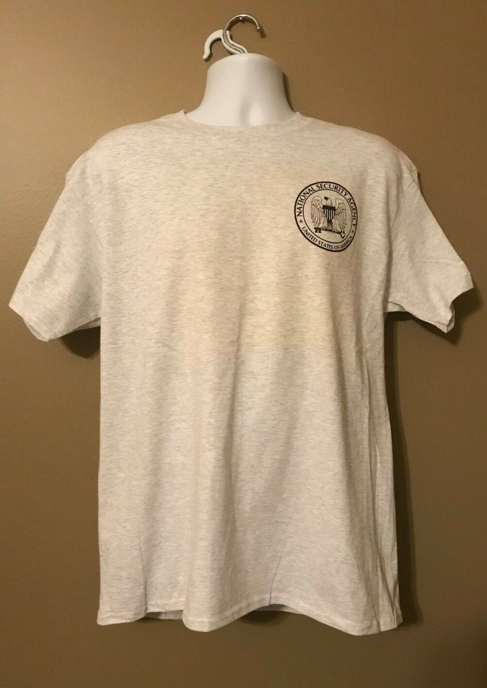 NSA National Security Agency SIGINT Ft Meade MD Gray Short Sleeve MORALE T-Shirt