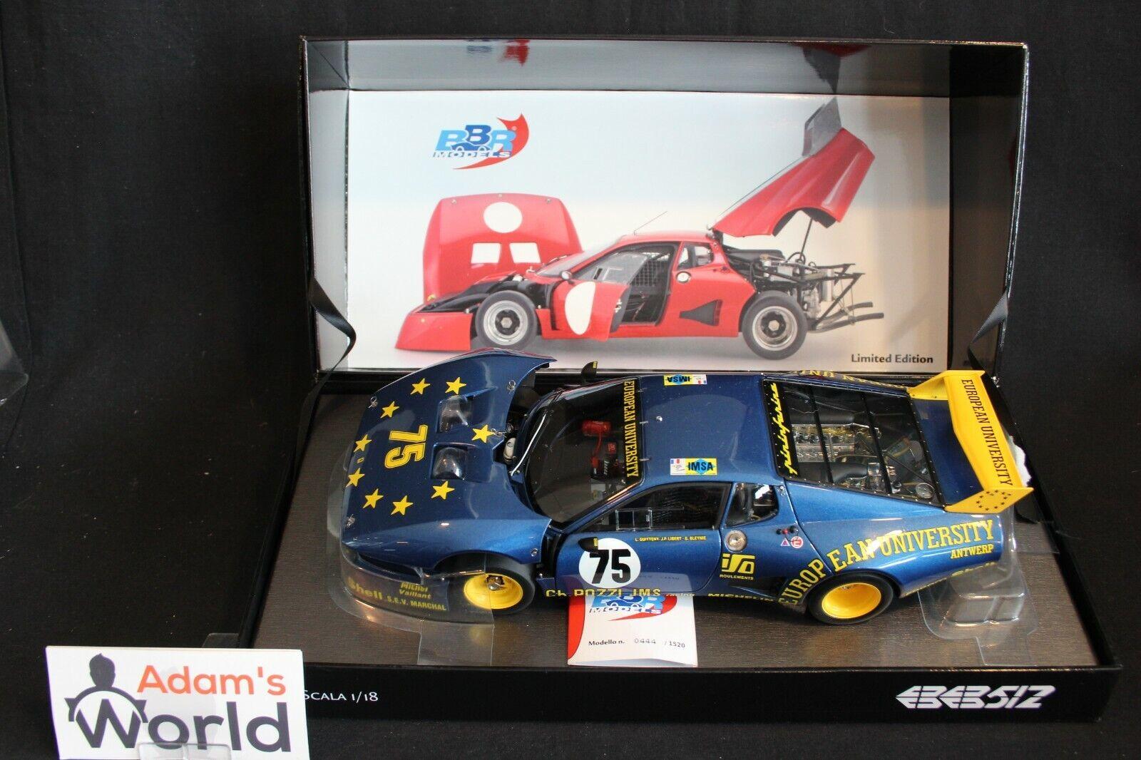 BBR Ferrari 512BB LM 1980 1 18  75 Guitteny   Bleynie 24h Le Mans (PJBB)