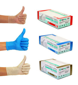 Einweghandschuhe Einmalhandschuhe Nitrilhandschuhe Vinylhandschuhe S M L XL blau