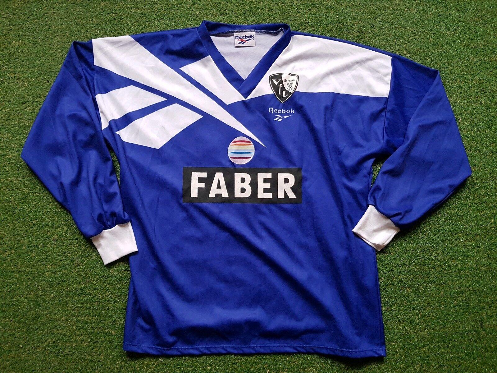 VFL Bochum Trikot XXL 94 95 Reebok Football Shirt Soccer Jersey  Faber 10 Wosz  | Moderne Muster