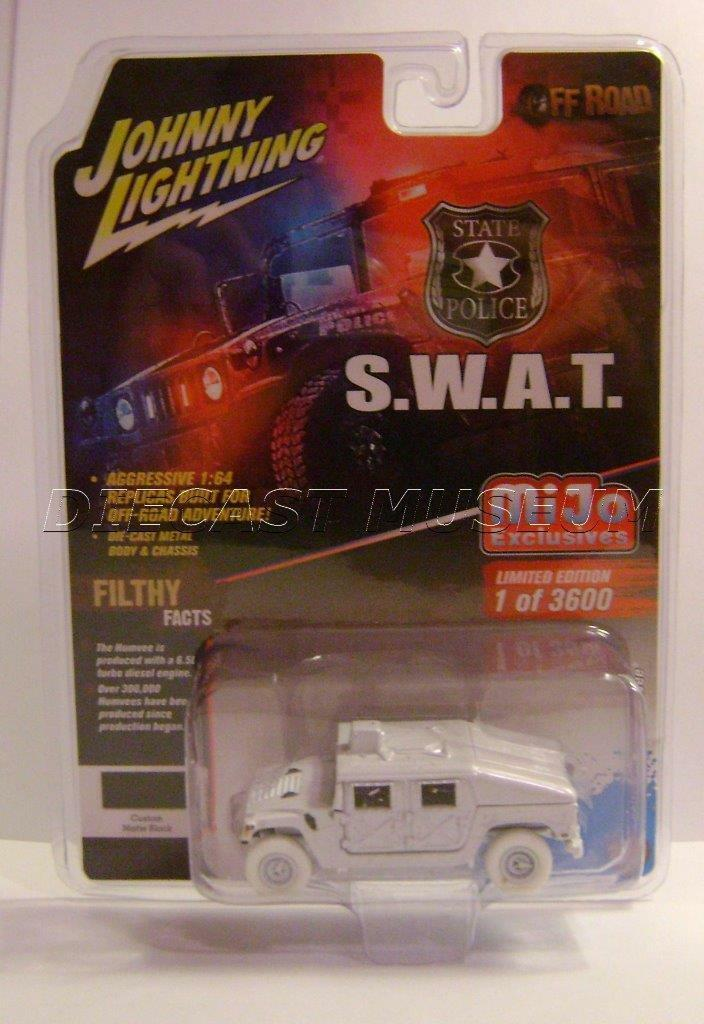 STATE POLICE SWAT S.W.A.T. HUMVEE HUMMER MIJO JOHNNY WHITE LIGHTNING CHASE CAR