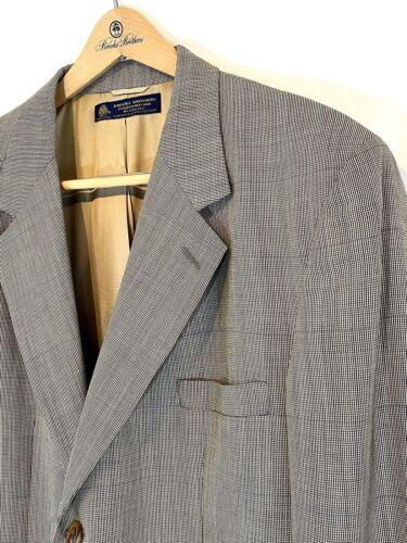 Brooks Brothers Grey Wool Plaid Blazer Jacket Spor