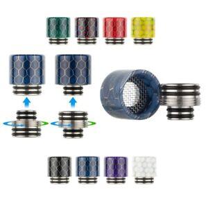 810/ 510 2in1 Wide Bore Drip Tip Mundstücke mit Spritzschutz und Adapter DripTip