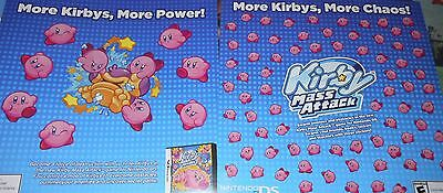 2 SHEETS OF KIRBY MASS ATTACK GAME STICKERS NINTENDO DS