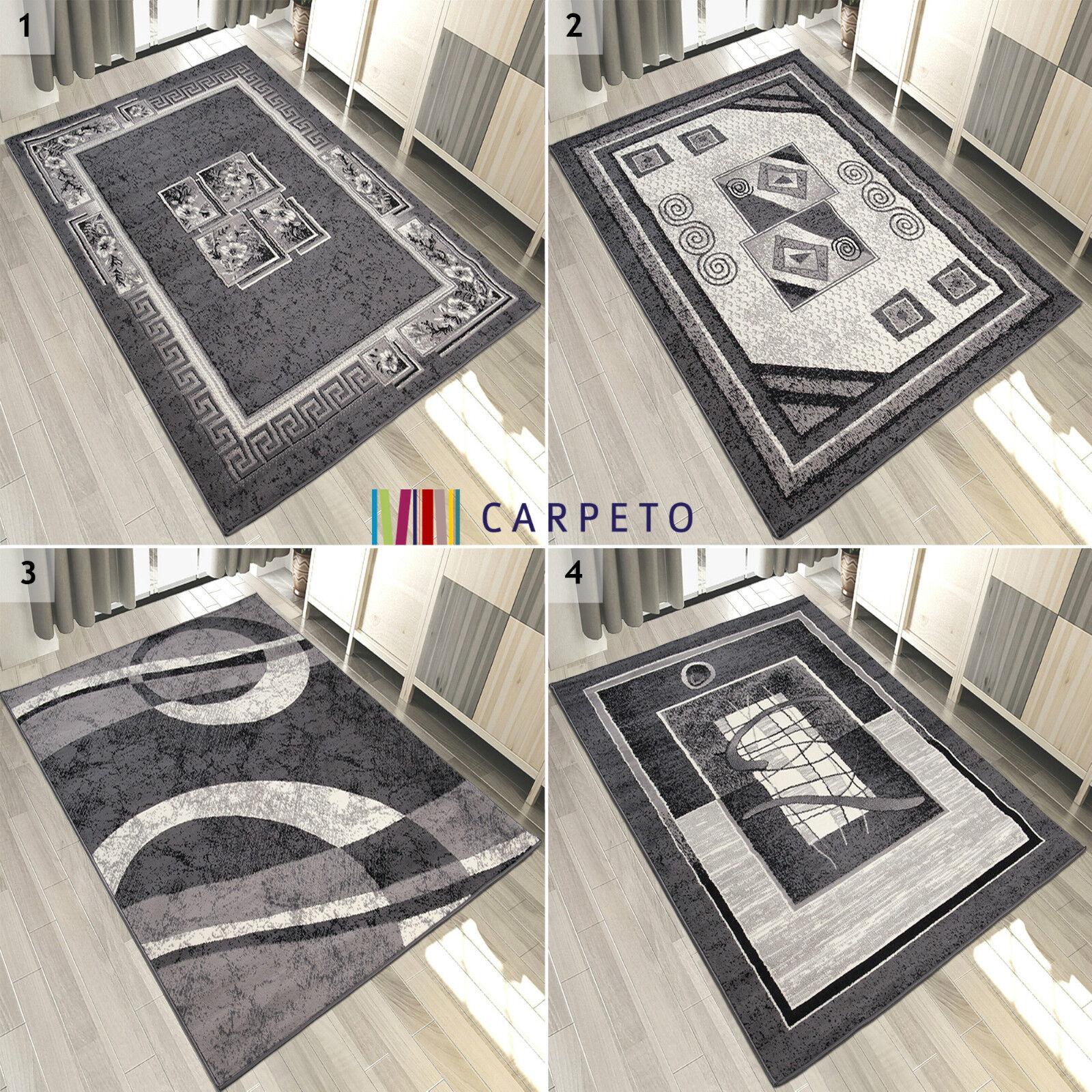TAPPETO Grigio Bianco breve Flor Modern   soggiorno piatto tappeti   Molte Dimensioni