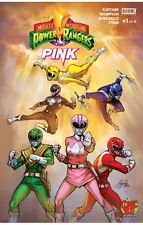 MIGHTY MORPHIN POWER RANGERS PINK #1 Exclusive  Retailer SIYA OUM Variant