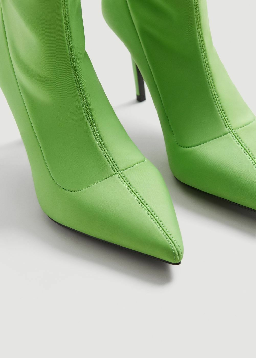 MANGO GREEN HIGH HEEL STRETCH SOCK SOCK SOCK ANKLE BOOTS CINDA SIZE 6UK 39EU 8US RARE 8e342b