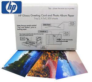 Hp glossy greeting card photo album paper 200 sheets 95 x 7 image is loading hp glossy greeting card amp photo album paper m4hsunfo