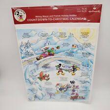 Vintage Advent Calendar NOS Hallmark Disney Mickey Mouse and Friends Christmas Countdown