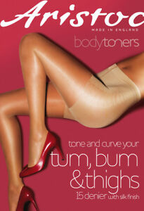 Aristoc-Bodytoners-Bum-Tum-amp-Thigh-Shaping-Tights-15-Denier-Satin-Shine-Low-Leg