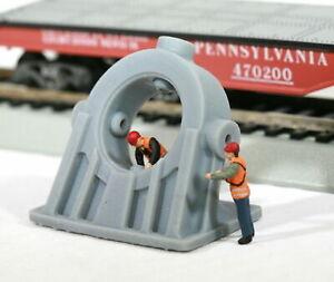 HO-Scale-Cast-Angled-Bearing-Model-Railroad-Flatcar-Load