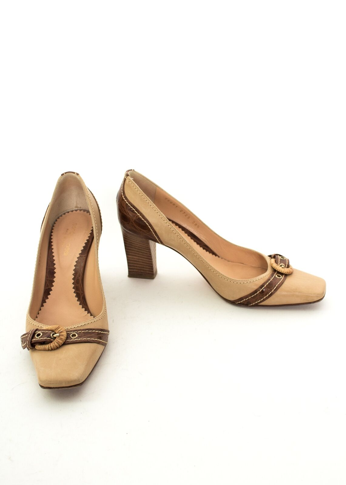 Descuento barato SERGIO ROSSI Pumps Gr. EU 38,5 Damen Schuhe High Heels Beige Leder
