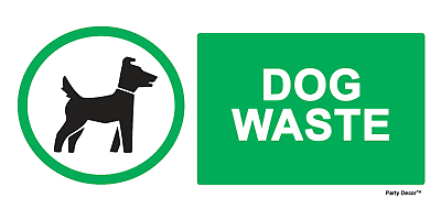 2 X Dog Waste - Info Sign Self Adhesive Vinyl Waterproof Sticker