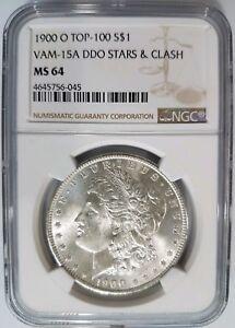 1900-O-Morgan-Silver-Dollar-NGC-MS-64-VAM-15A-Clash-amp-Stars-DDO-Mint-Error-Coin