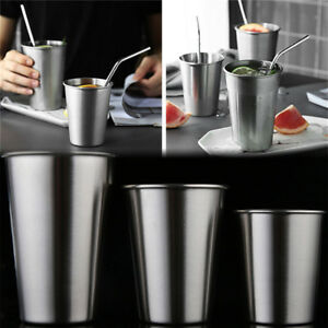 Stainless-Steel-Cup-Mug-Drinking-Coffee-Beer-Tumbler-Picnic-Camping-Travel-LY