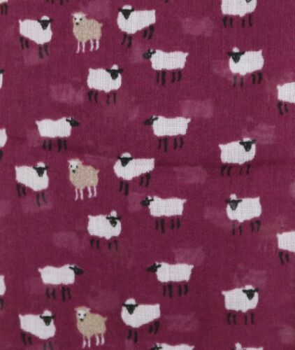 PEONY SHEEP SCARF Very Soft Ladies Plum Farm Animal Sheep Scarves Wrap Gifts UK