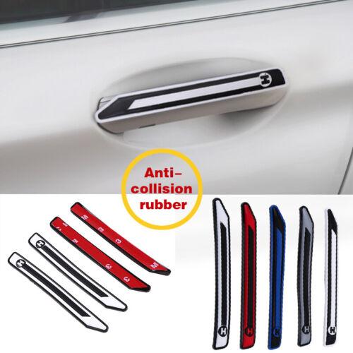 4x Rubber Car Door Edge Guard Scratch Protector Anti-collision Yellow Trim