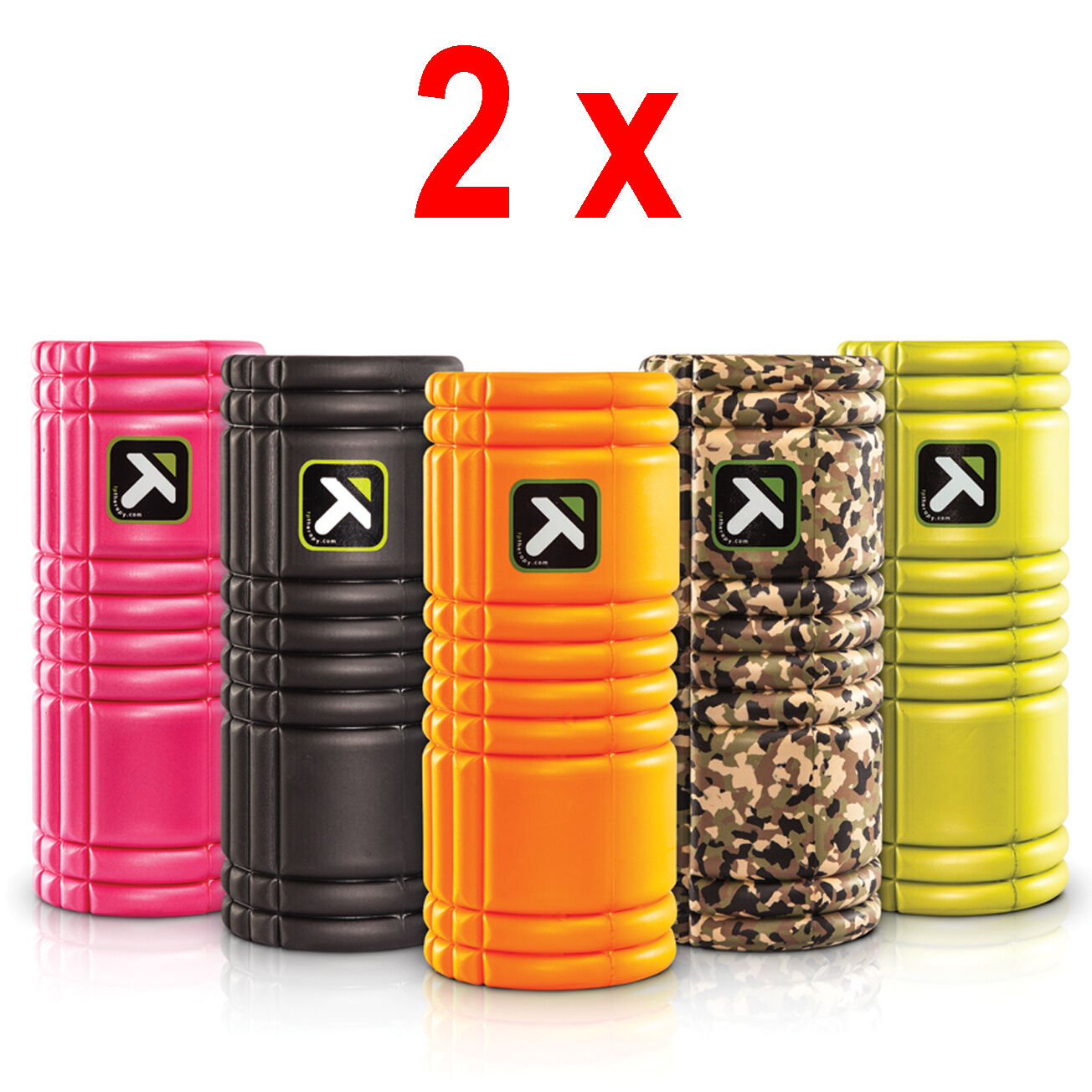 2 x Trigger Point GRID Foam Roller Fitness Massage Rolle REHA THERAPIE