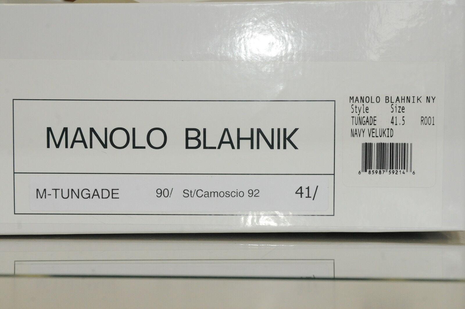 Neu Manolo Blahnik Blahnik Blahnik Tungade 90 Marine Wildleder Stiefeletten Schuhe Ferse 37 37.5 a63dc7
