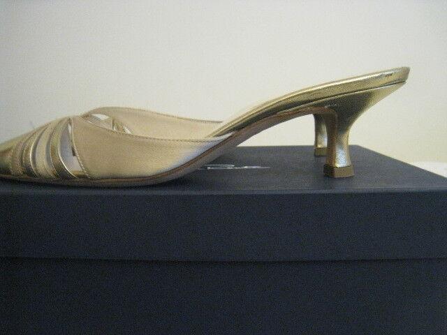 New Oscar De La Renta Womens shoes Mules Mules Mules Sandals gold Size 37 a93379