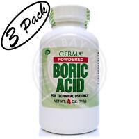 Boric Acid Powdered Acido Borico En Polvo 3 Pack