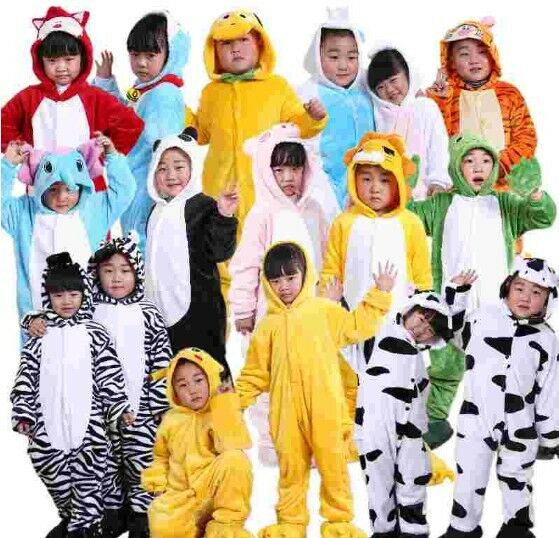 40 Styles Kids Pajamas Animal Cosplay Costume Flannel Homewear Hoodies