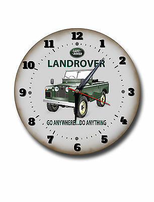 "Motorcycles Collectibles Lovely Landrover 250mm/10"" Diameter Metal Wall Clock,garage Clock.workshop Clock"