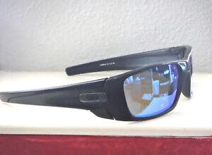 d7cbb491f8bd3 New Oakley Fuel Cell Sunglasses Matte Black   Custom Polarized Blue ...
