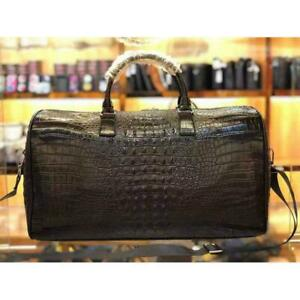 Men-Women-Hand-Luggage-Alligator-Printed-Leather-Overnight-Bag-Shoulder-Bags