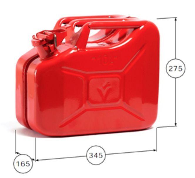 Nouveau 10 L Rouge Rouge Rouge Jerry militaire peut FIOUL ESSENCE DIESEL réservoir de stockage avec bec verseur 55a31b