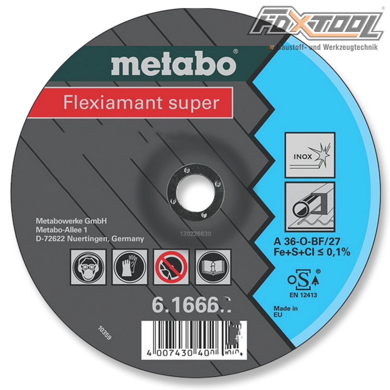 Metabo Flexiamant super 125x6x22,2 Inox  Trennscheibe Flexscheibe Trennen