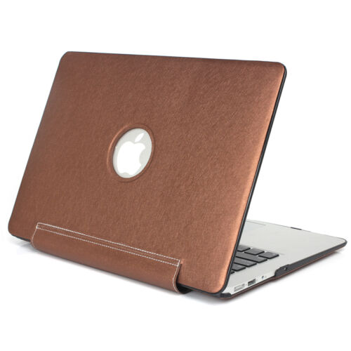 PU Leather Coated Sleeve Hard Cover Case for Macbook Pro 13//15 Retina Air 11//13/""