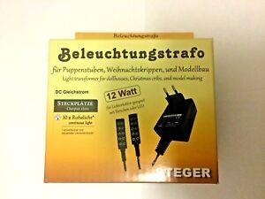Adroit Transformateur D'Éclairage Steger F.3,5 V - 12 W M.2x5-poligem Distributeur