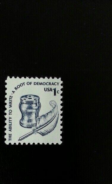 1977 1c Ability to Write, Root of Democracy Scott 1581