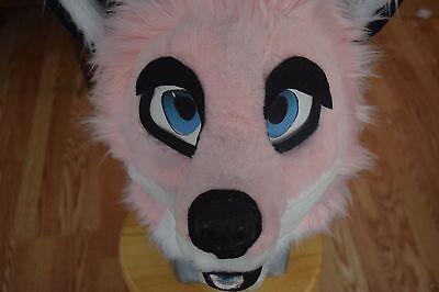 fursuit pink head