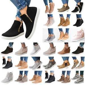 Women-Hidden-Platform-Sports-Sneakers-Lady-Slip-On-Pumps-Wedge-Heel-Loafer-Shoes