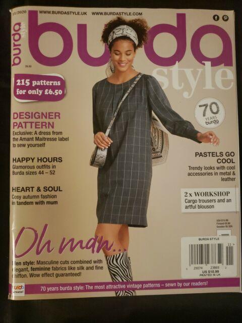 Burda Style Magazine ~UK Edition Designer Pattern, Trendy Looks November 2020